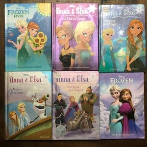 6 different Frozen hardcover books. Like new!
